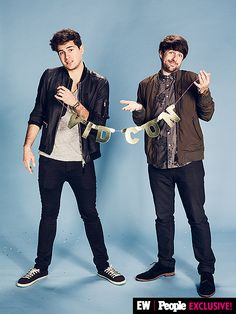 Smosh made sure you knew they were at #VidCon.   Image Credit: Ramona Rosales/People/EW