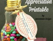 Free Teacher Appreciation Printable Tags Teachers Make the World a Brighter Place
