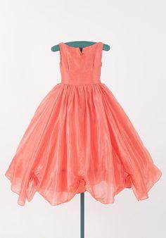 ❀ Fanciful Flower Girls ❀ dresses & hair accessories for the littlest wedding attendant :-)  tangerine