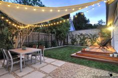 7 Clear Tips: Dream Backyard Garden small backyard garden garten.Backyard Garden Design How To Grow. Backyard Shade, Backyard Seating, Small Backyard Landscaping, Landscaping Ideas, Backyard Layout, Backyard Pergola, Outdoor Shade, Landscaping Plants, Terraced Backyard