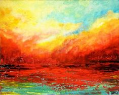 palette knife painted sunsets - Google Search