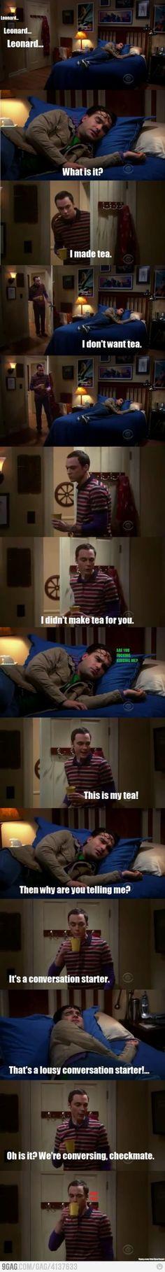 Sheldon Cooper Conversation Starter