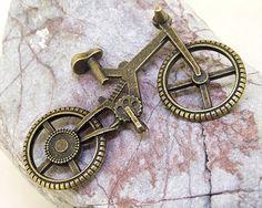 3Pcs Q Antik Bronze Fahrrad Link Fahrrad Anhänger DIY von diygem