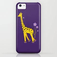 Funny #Giraffe Roller Skating #iPhone 5C #Case #iphonecases #giraffes #iphone5c