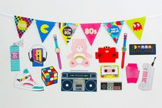 80s party decorations, 80s photo booth props | Creative Sense Co