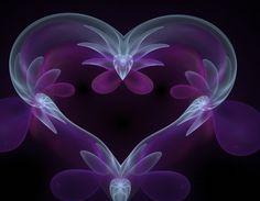Majestic purple heart • digital / fractal art: obeyyourmaster on deviantart