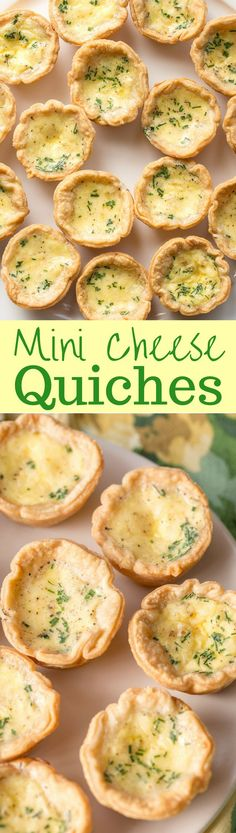 Cheese Quiche Mini Cheese Quiche Recipe - with a velvety smooth filling, rich flavor and a flaky crust - the perfect appetizer! Mini Cheese Quiche Recipe - with a velvety smooth filling, rich flavor and a flaky crust - the perfect appetizer! Quiches, Cheese Quiche, Snacks Für Party, Appetizer Recipes, Hot Appetizers, The Best, Breakfast Recipes, Breakfast Finger Foods, Brunch