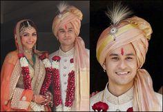 From Abhishek Bachchan To Shahid Kapoor- Safas And Kalgi Designs Of Bollywood Celebrity Grooms - BollywoodShaadis.com
