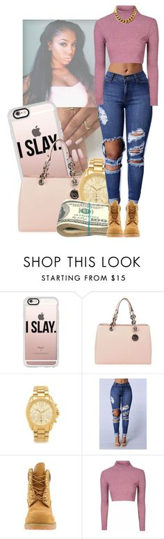 Untitled #160 by maraxcee on Polyvore featuring Glamorous, Timberland, MICHAEL Michael Kors, Michael Kors and Casetify