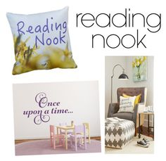 """Reading Nook"" by cici-rahma on Polyvore featuring interior, interiors, interior design, home, home decor, interior decorating and Nook"