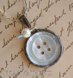 button soldered pendant Etsy  $5.00