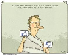 Cesar never thought how effective his method would be in the social networks.
