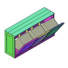 Wasboxen ombouw bouwtekening
