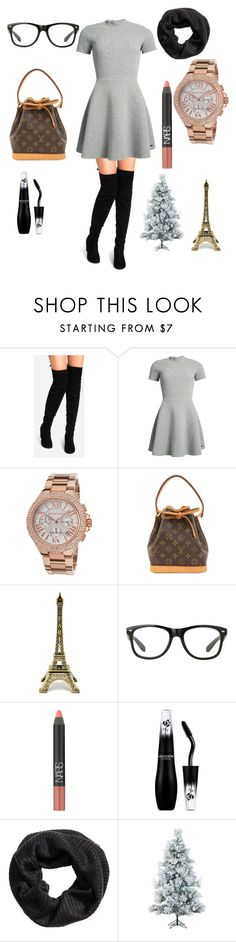 """""""Christmas in Paris"""" by rebecabritney on Polyvore featuring Superdry, Michael Kors, Louis Vuitton, NARS Cosmetics, Lancôme and Fraser Hill Farms"""