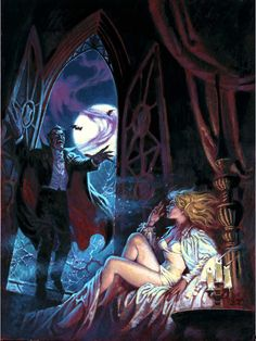 Cover art by Luis Angel Dominguez, for Marvel's Dracula Lives Sexy Horror, Gothic Horror, Arte Horror, Horror Art, Horror Films, Creatures Of The Night, Classic Monsters, Goth Art, Horror Comics