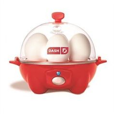 Dash Rapid Egg Cooker: 6 Egg Capacity Electric Egg Cooker for Hard Boiled Eggs, Poached Eggs, Scrambled Eggs, or Omelets with Auto Shut Off Feature - Red - World's Best Products For Your Home And Kitchen Hard Boiled Egg Cooker, Soft Boiled Eggs, Specialty Appliances, Kitchen Appliances, Small Appliances, Perfect Eggs, Electric Cooker, How To Cook Eggs, Scrambled Eggs