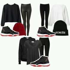 Bred 11's outfit