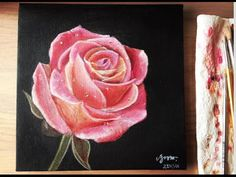 Step by step Acrylic Rose Tutorial - YouTube