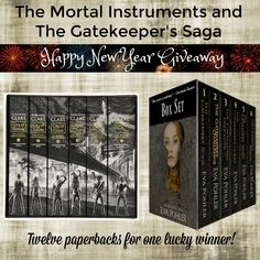 Enter for a chance to win twelve paperbacks: The Mortal Instruments Box Set, by Cassandra Clare, and The Gatekeeper's Saga, by Eva Pohler.
