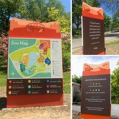 Map and Wayfinding Signage at Mesker Park Zoo & Botanic Garden  #map #zoo #wayfinding #design #meskerparkzoo #evansville