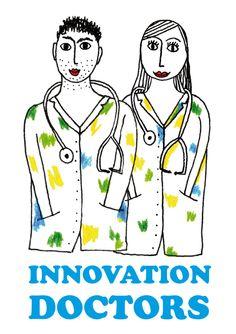 Logo for Innovation Doctors Redlobster | Illustratie - Grafische vormgeving - Webdesign | Roeselare + Kortrijk | Illustratie