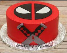 Deadpool character cake