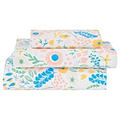 Looking for floral toddler bedding that's always in bloom? Our Floral Rush Toddler Sheet Set is ready to freshen up any toddler room in your home. It features a colorfully printed flower design and comfy 100% cotton construction. So it's more comfortable than sleeping in an actual bed of flowers.