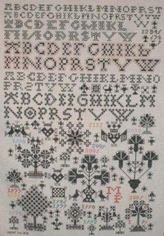 Zo een heb ik geborduurd met rood zijde garen op 24 draads stof /Berthi's Weblog