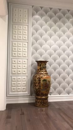 Model LT-19 White Diamond installed as a part of an accent wall. #3dwall #luxuryhome