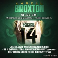 Baylor Football - Signing Day Player Card