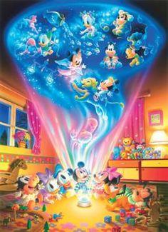 D-1000-290 Tenyo Disney Mickey Minnie Vivid Magic Jigsaw Puzzles