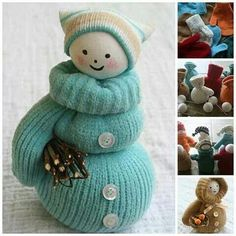 Image result for mitten dolls snowmen