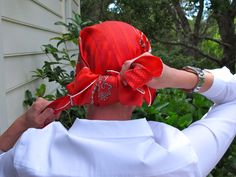 A step by step tutorial on how to tie a head scarf via TheSilverPen.com #chemo #cancer