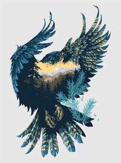 Tiger Design, Bear Design, Design Art, Eagle Design, Tiger Illustration, Creative Illustration, Audrey Kawasaki, Joanna Krupa, Playroom Design