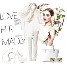 White Spring by miqua on Polyvore featuring Mode, TIBI, MANGO, Armani Jeans, Nly Shoes, Kate Spade, Tiffany & Co., Reed Krakoff, Prada and Chanel White Springs, Reed Krakoff, Armani Jeans, Tiffany, Prada, Mango, Kate Spade, Chanel, Shoe Bag