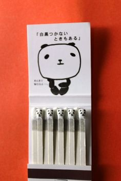 Kawaii Panda Matchbook (Japan) I need this. Not to use. But just to look at.