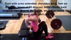 Triceps Dips - annamarshnutrition - YouTube