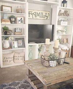 Cool Farmhouse Living Room Decor Ideas 31