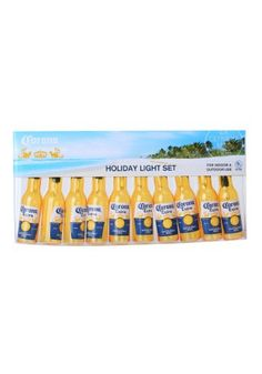 Celebrate the holiday season or decorate for anytime with this Corona Beer Bottle Light Set.