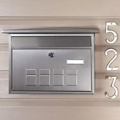 Deco Locking Wall-Mount Mailbox - Stainless Steel