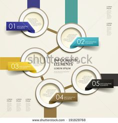 modern 3d vector abstract flow chart paper infographic elements