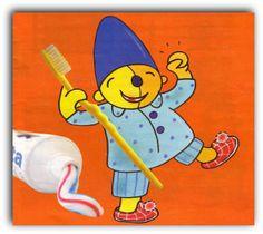 Plaatje Pompom tanden poetsen