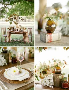 gorgeous fall table setting