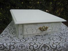Shabby Chic Wedding Cake Stand Box One of a Kind Vintage. $129.95, via Etsy.
