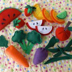 Felt fruits and veggies