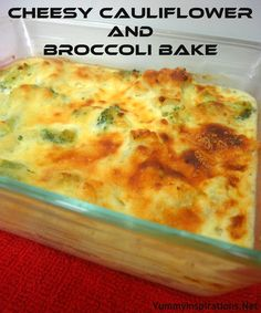 Cheesy Cauliflower and Broccoli Bake - Yummy Inspirations