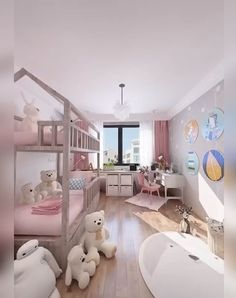 Sweet & Pink Space for Twin Girls Tween Girls Bedroom Girls Pink Space Sweet Twin Diy Kids Bedroom Furniture, Modern Kids Bedroom, Kids Bedroom Designs, Home Room Design, Kids Room Design, Girls Bedroom Decorating, Furniture Layout, Small Girls Bedrooms, Bed For Girls Room