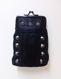 Image of LEATHER STUDDED CIGARETTE POUCH