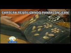 CARTERA REUTILIZANDO UN PANTALON JEAN
