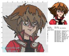 Jaden Yuki Yu Gi Oh character free cross stitch patterns - free cross stitch patterns by Alex
